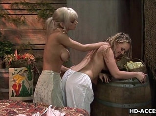 Hottest lesbian blonde action that you will see