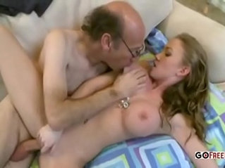 Young hottie fucked by old ugly man