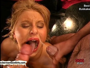Compilation of the best bukkake whores getting creamed with warm goo