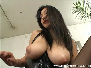 Lucky slave gets to eat a big titted mistress' wet pink cunt